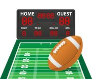 American football sports digital scoreboard vector illustration Royalty Free Stock Image