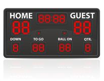 American football sports digital scoreboard vector illustration Royalty Free Stock Photo