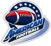 American football, sports vector logo Royalty Free Stock Images