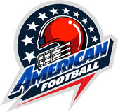 American football, sports vector logo Royalty Free Stock Image