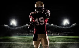 American football sportsman player Stock Image
