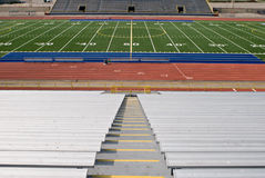 American Football Stadium. As viewed from the bleachers Royalty Free Stock Photo