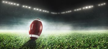 American football is on stadium royalty free stock photography