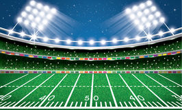 American Football Stadium. Arena. Vector Illustration stock illustration