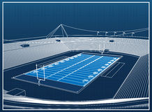 American Football Stadium vector illustration