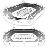 American Football Stadium Royalty Free Stock Photos