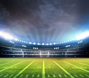 American football. Stadium 3D rendering Stock Photography