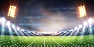 American football stadium 3D. Royalty Free Stock Image