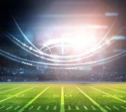 American football. Stadium 3D rendering Stock Photos