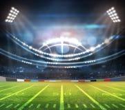 American football stadium 3D. Royalty Free Stock Photos