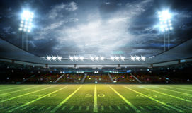 American football stadium 3D. American football stadium 3D rendering Stock Photo
