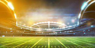 American football. Stadium 3D rendering Royalty Free Stock Photos