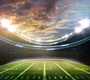 American football stadium. 3D rendering Stock Photography