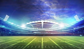 American football stadium 3D. American football stadium 3D rendering Royalty Free Stock Photography
