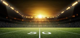 American Football stadium, 3d rendering royalty free stock photos