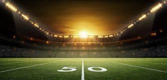 American Football stadium, 3d rendering. The imaginary rendered soccer stadium royalty free stock photos