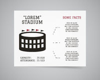 American football stadium flyer template design Stock Images