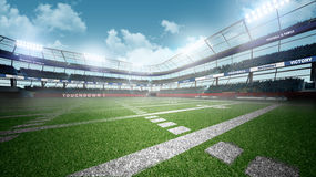 American football stadium. Professional american football stadium and blue sky Stock Photo