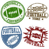 American football stamps Stock Image