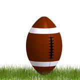 American football standing in the grass Royalty Free Stock Photo