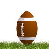 American football standing in the grass Stock Images