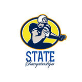 American Football State Championships Retro Stock Photo