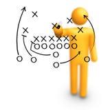 American football Strategy. Stick Figure Coach American football Strategy Royalty Free Stock Photos