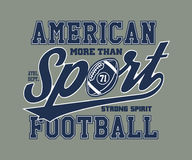 American Football Stylized vector illustration Stock Photos