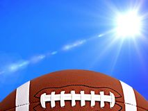Football, american football and sunny weather in background stock illustration
