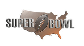 American football super bowl map Royalty Free Stock Photos