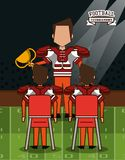 American football superbowl. American football player on superbowl vector illustration graphic design Royalty Free Stock Photography