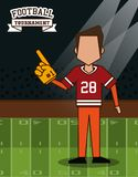 American football superbowl. American football player on superbowl vector illustration graphic design Stock Photography