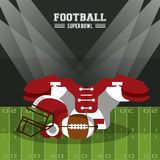 American football superbowl. Vector illustration graphic design Royalty Free Stock Photography