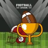 American football superbowl. Vector illustration graphic design Stock Photo