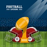 American football superbowl. Vector illustration graphic design Royalty Free Stock Photos