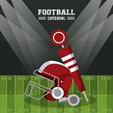 American football superbowl. Vector illustration graphic design Stock Image