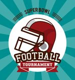 American football superbowl. Vector illustration graphic design Stock Images