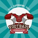 American football superbowl. Vector illustration graphic design Stock Photos