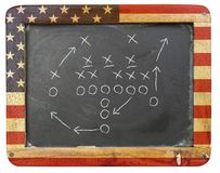 American football tactic Stock Photo