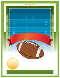 American Football Tailgate Party Flyer Design. A vector flyer design perfect for tailgate parties, football invites, etc. EPS 10. File contains transparencies Royalty Free Stock Photo