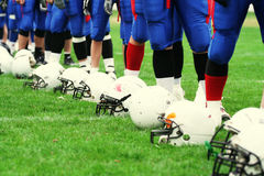American football team royalty free stock photo