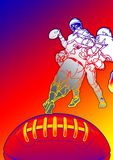 American football team Stock Images