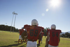 American Football Team On Field Stock Image