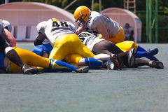 American football team play Royalty Free Stock Photos
