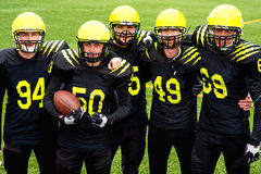 American football team Stock Photography