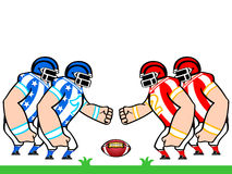 American football teams. American flag colored football teams ready to fight Royalty Free Stock Image