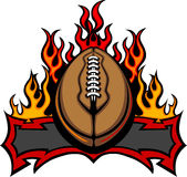 American Football Template with Flames vector illustration