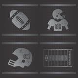American football theme Stock Photography