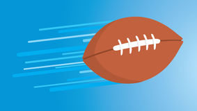 American football thrown and floating fast Royalty Free Stock Photos
