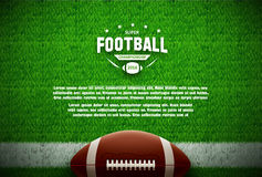 American football top view on green field Stock Photos